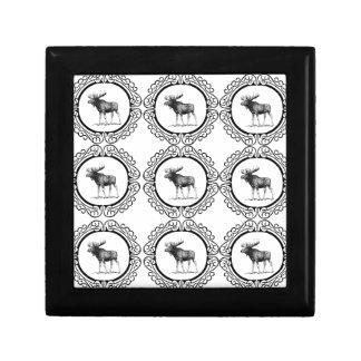 Boîte À Souvenirs troupeau d'anneau d'orignaux