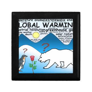 Boîte À Souvenirs Un rose dans l'Arctique qui est réchauffement