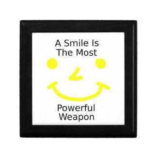 Boîte À Souvenirs Un sourire est l'arme la plus puissante (le visage