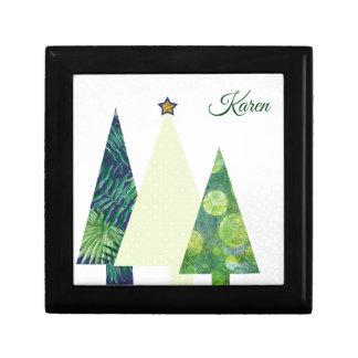 Boîte À Souvenirs Vacances d'arbres de Noël de trois Crafter à la