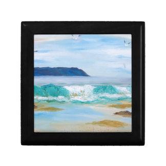 Boîte À Souvenirs Vague de rupture par KatGibsonArt - aimez la plage