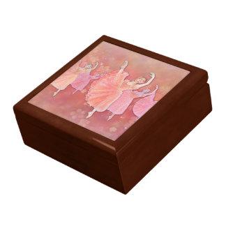 Boîte À Souvenirs Valse de la boîte-cadeau d'art de ballet de fleurs