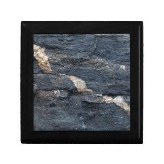 Boîte À Souvenirs Veines de calcite en schistes noirs tectonized