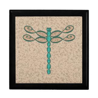 Boîte À Souvenirs Vert de libellule d'infini