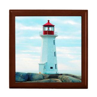 Boîte À Souvenirs Vieux phare, océan bleu, maritime, nautique