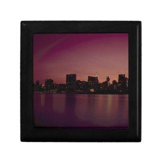 Boîte À Souvenirs Ville urbaine de Manhattan de crépuscule d'horizon