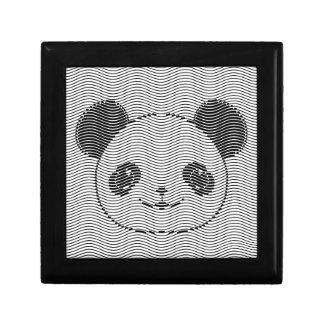 Boîte À Souvenirs Visage d'ours panda sur le motif de vague