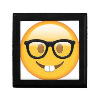Boîte À Souvenirs Visage Geeky de smiley d'Emoji