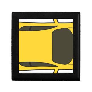 Boîte À Souvenirs Voiture de sport jaune