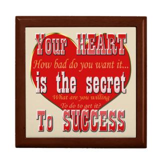 Boîte À Souvenirs Votre coeur est le secret au succès