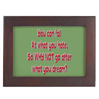 Boîte À Souvenirs Vous pouvez échouer à ce que vous détestez, ainsi
