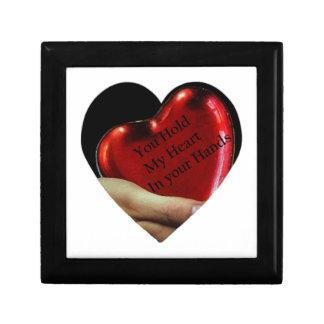 Boîte À Souvenirs Vous tenez mon coeur dans votre valentine de mains