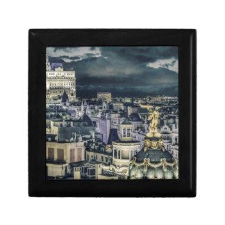 Boîte À Souvenirs Vue aérienne de scène de nuit de paysage urbain de