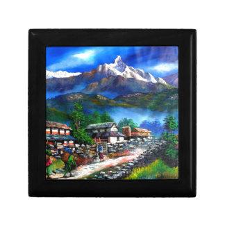 Boîte À Souvenirs Vue panoramique de montagne Népal d'Everest