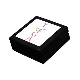 Boîte À Souvenirs yoga avec un lotus rose