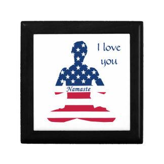 Boîte À Souvenirs Yoga d'Américain de méditation des Etats-Unis