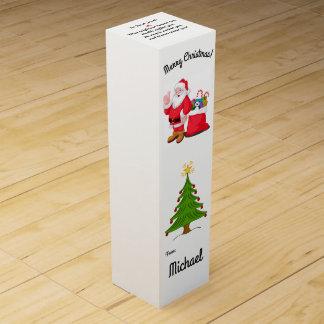 Boîte à vin de cadeau de Noël votre Stuffer nommé Boite Cadeau Pour Bouteille De Vin
