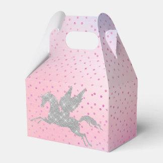 Boîte argentée magique de cadeau de licorne ballotin pour dragées