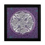 Boîte-cadeau celtique de fractale de noeud de lava boîte à bijoux