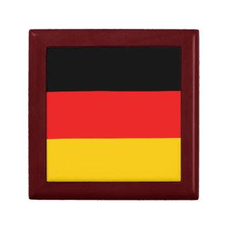 Boîte-cadeau de drapeau de l'Allemagne Petite Boîte À Bijoux Carrée