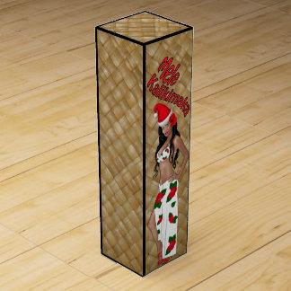 Boîte-cadeau de vin de Noël de Mele Kalikimaka de Boite Cadeau Pour Bouteille De Vin