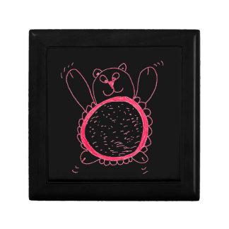 Boîte-cadeau d'ours de tournesol boîte à souvenirs