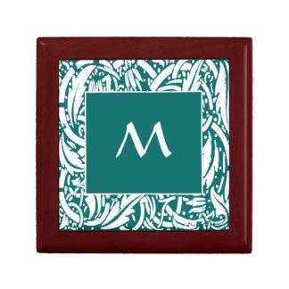 Boîte-cadeau faite sur commande de tuile de petite boîte à bijoux carrée