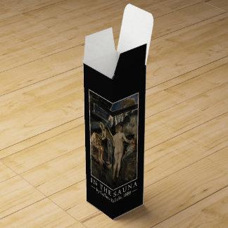 Boite Cadeau Pour Bouteille De Vin Boîte-cadeau faite sur commande de vin du sauna de