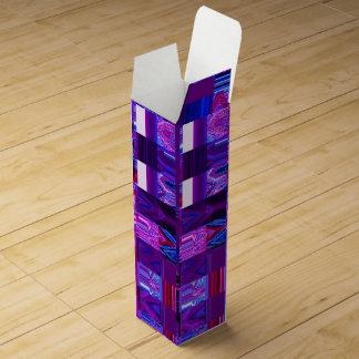 Boite Cadeau Pour Bouteille De Vin Boîte-cadeau violette de vin de Mélange