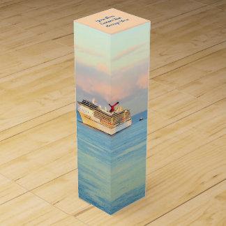 Boite Cadeau Pour Bouteille De Vin Lever de soleil en pastel avec la coutume de