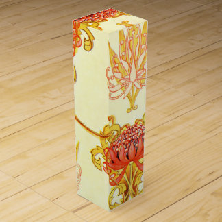 Boite Cadeau Pour Bouteille De Vin Motif de papier peint de Waratah