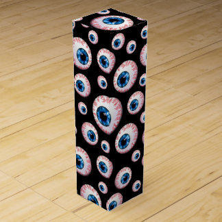 Boite Cadeau Pour Bouteille De Vin Motif noir de globe oculaire