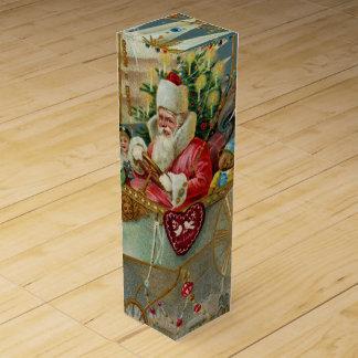 Boite Cadeau Pour Bouteille De Vin Père Noël et sa boîte-cadeau extraordinaire de vin