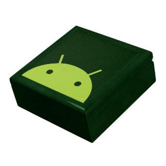Boîte-cadeau principale androïde verte grande boîte à bijoux carrée