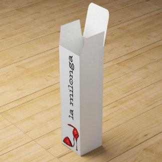 Boîte-cadeau rouge de vin de chaussure de tango boite cadeau pour bouteille de vin