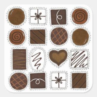 Boîte d'autocollants de sucrerie de Saint-Valentin Sticker Carré