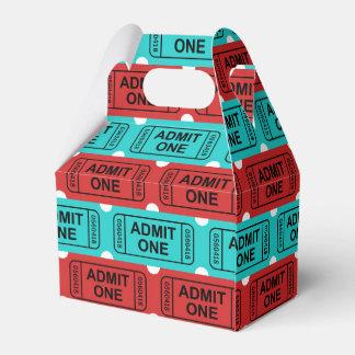 Boîte de cadeau de billet de film de deux couleurs ballotins