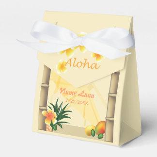 Boîte de cadeau de hutte de Tiki Boites Faveurs De Mariage