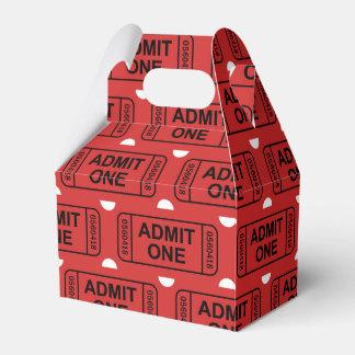 Boîte de cadeau de motif de billet de film ballotins