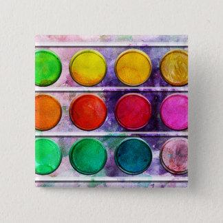 Boîte de couleur colorée de peinture d'amusement badge