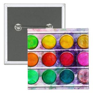 Boîte de couleur colorée de peinture d'amusement d badge