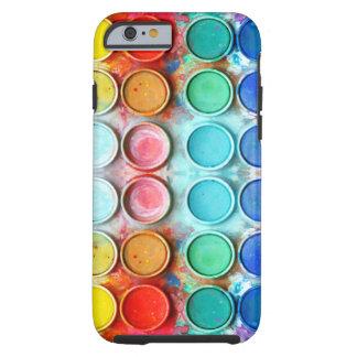Boîte de couleur de peinture d'amusement coque tough iPhone 6