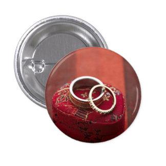 Boîte de rangement d'anneaux de mariage badge
