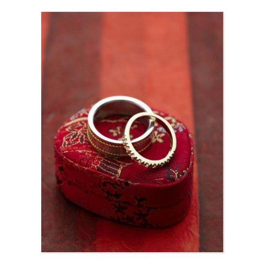 Bo te de rangement d 39 anneaux de mariage carte postale zazzle - Rangement cartes postales ...