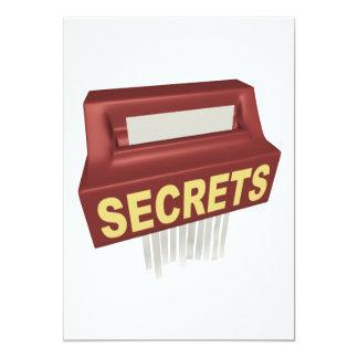 Boîte de secrets carton d'invitation  12,7 cm x 17,78 cm