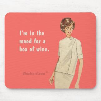 boîte de vin tapis de souris