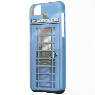 Boîte drôle de téléphone des Anglais de bleus laye
