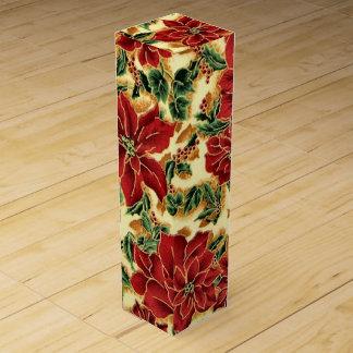 Boîte florale à vin de vacances de Noël Boite Cadeau Pour Bouteille De Vin