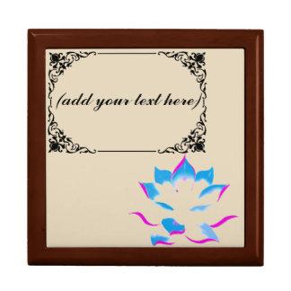 boîte personnalisée de souvenir de fleur de lotus boîte à souvenirs