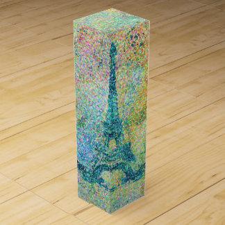 Boite Pour Bouteille De Vin Beau Tour Eiffel vintage girly à la mode